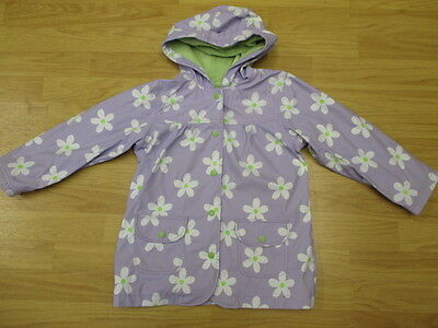 Hatley Girls Waterproof Jacket Rain Coat Mac age 5-6-7 Lilac Daisy