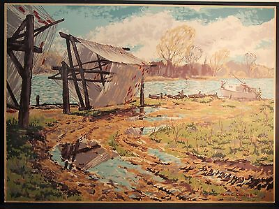 "ALAN COLLIER-SAMPSON/MATTHEWS SILKSCREEN signed "" SUPERVISED BY A.J. CASSON"""