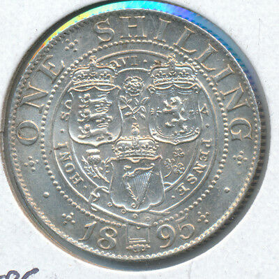 Great Britain Shilling 1895 - AU with lustre remaining