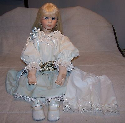 Porcelain Doll Parts and Stuffed Body