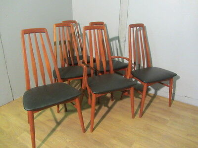 Vintage Retro Danish Eva dining Chairs By Neil's Koefoed For Hornslet