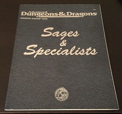 Sages and Specialists 1st Print Advanced Dungeons & Dragons Matt Forbeck