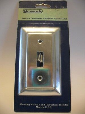 Vtg NOS ALUMINUM LIGHT SWITCH Wall COVER Plate Inset Groove Beveled Edge Amerock