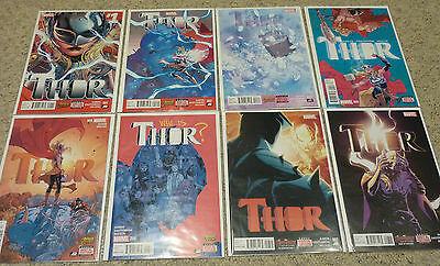 Thor #1-8 by Jason Aaron | Complete Marvel 2014 Series | NM