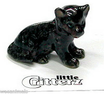 "Little Critterz LC124 ""Stealth"" Black Panther Cub Figurine Wee Animal Miniature"
