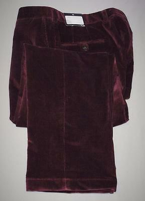 New Mens Size 36/30 Coppley Dylan Burgundy Corduroy pants Made in Canada