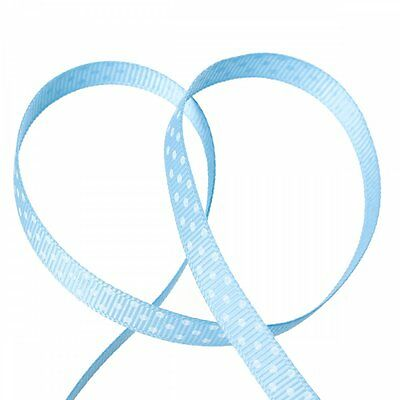 Bead and Button Company Blue Spot Grosgrain Ribbon 10mm 9 Meters