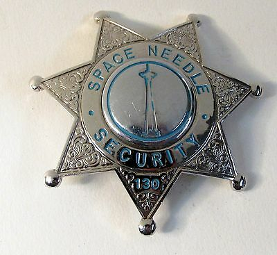rare Seattle Washington SPACE NEEDLE SECURITY police badge OBSOLETE