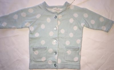 BNWT Seed Newborn Baby Cardigan RRP $49.95 Mint With White Spot Size 0000