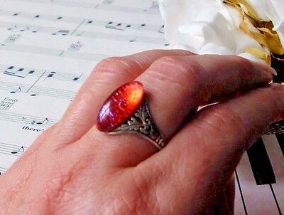 Dragon's Breath Pendeloque Ring Antiqued SS finish SALE Free Shipping