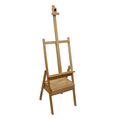 US Art Supply Studio H-Frame Wood Painting Floor Easel with Storage Drawer