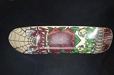 Santa Cruz Skateboard Deck Dressen Roses Old School Shape Free Grip 8.75 Skate