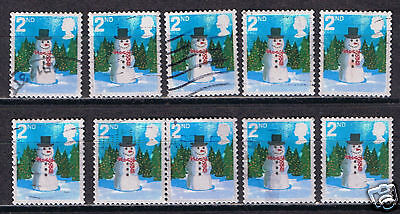 Great Britain #2411a 2006 2nd Christmas Snowman SCV$4.50