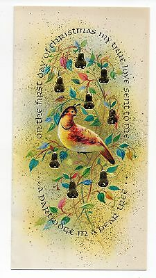Vintage Coronation Christmas Greeting Card Partridge In Pear Tree 1960's