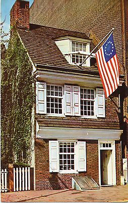 The Betty Ross House, Philadelphia, Pennsylvania, Vintage Postcard, jul