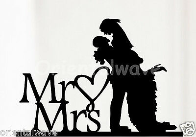Acrylic Bride and Groom Wedding Love Cake Topper Party Favors Decoration D