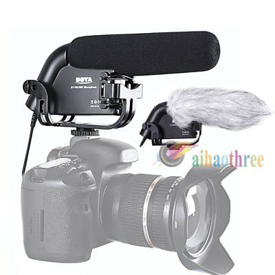 BOYA BY-VM190 Stereo Super-Cardioid Shotgun Microphone Mic For DSLR Camera【AU】