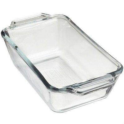 Anchor Hocking 5in x 9in Glass Loaf Dish Loaf Pan, New