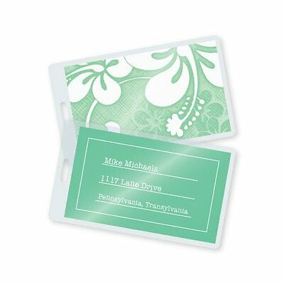 7 Mil Luggage Tag Laminating Pouches w/Slot 2-1/2in x 4-1/4in 500/bx Laminating