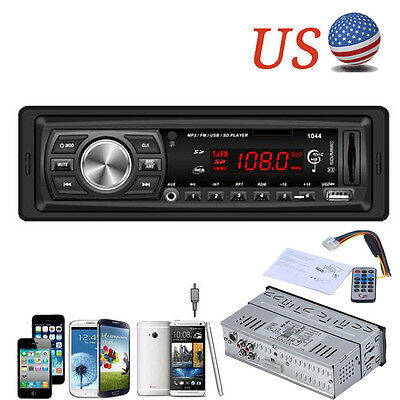 Car Stereo Audio In-Dash AM FM Aux Input Receiver with SD USB MP3 Radio Player