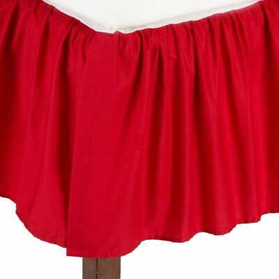 American Baby 100pct Cotton Percale Ruffle Crib Skirt Red