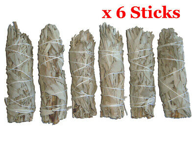 "Smudge Stick California White Sage - Mini 4"" (10cm) - BULK PACK of 6 Sticks"