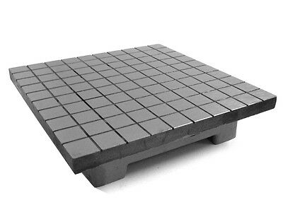 """CAST IRON LAPPING PLATE - HAND SCRAPPED 12"""" x 12"""" INCH SQUARE - SURFACE PLATE"""