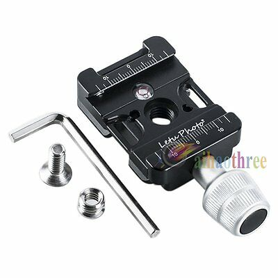 Letu Holder Clip Clamp For Quick Release Plate Benro Arca Swiss Tripod Ball Head