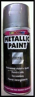 Metallic SILVER permanent lacquer spray paint for Craft 1 can Of 110 ml