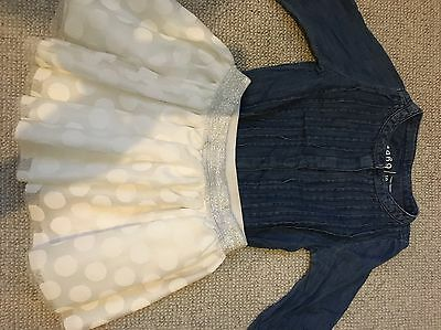 Bnwt Baby Girl Outfit,Gap jeans Shirt,tulle Skirt,size18-24