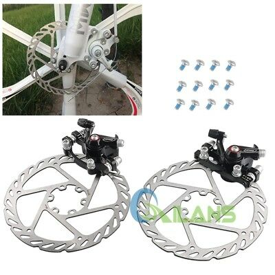 Mountain Mechanical Disc Brake Front and Rear Caliper + 160mm Rotors Brand New