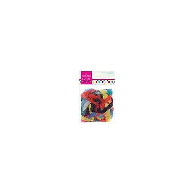 Docrafts Papermania Pack of 20 x 0.5m Spots & Stripes Brights Assorted Ribbon