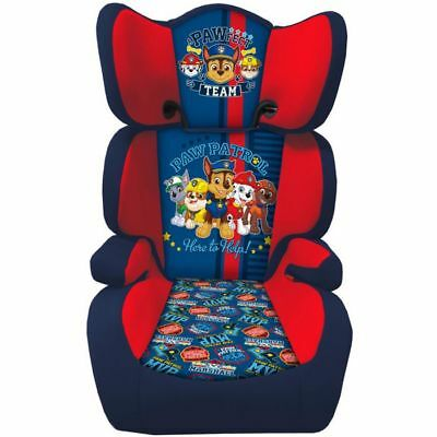 Paw Patrol Kids Safety High Back Booster Car Seat Group 23 15-36kg 3-12 Yrs