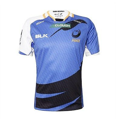 Western Force BLK 2016 Super Rugby Home Jersey Size S-3XL! BNWT's!