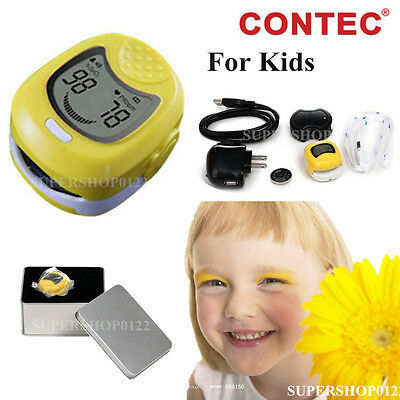 CONTEC CMS50QA Kids / Children / Pediatric Oximeter with Botton Battery&Charger