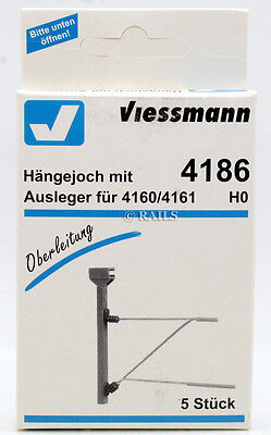 Viessmann Ho Gauge 4186 Pack Of 5 Catenary Suspension Yoke With Boom (U21)