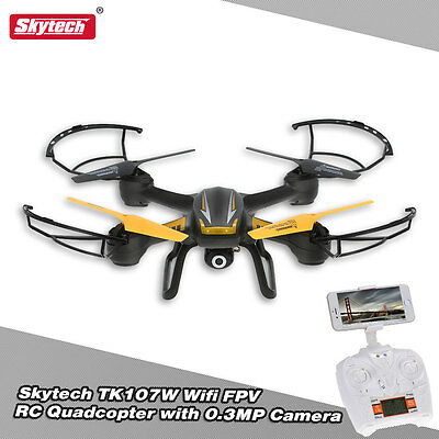 Skytech TK107 2.4G 6Achse Drone RC Helicopter Aircraft Quadcopter mit Kamera Neu