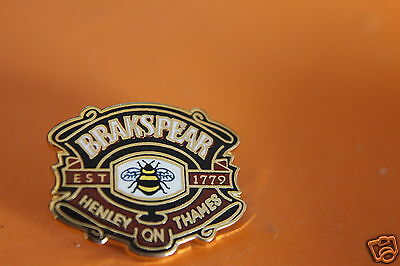 rare brakspear brewery henley on thames pin badge