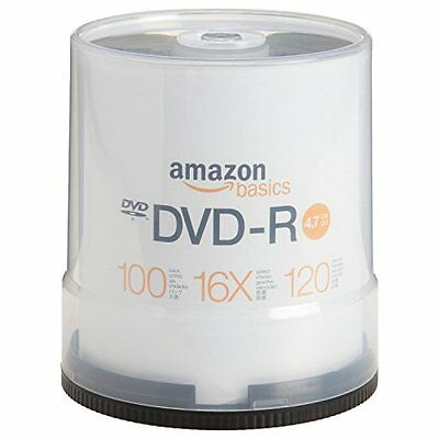 Basics 4.7 GB 16x DVD-R 100-Pack Spindle Blank Cd R Disc, New