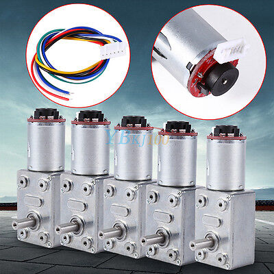 DC 12V 10-100RPM High Torque Turbo Worm Geared Reduction Motor + Encoder HighQ