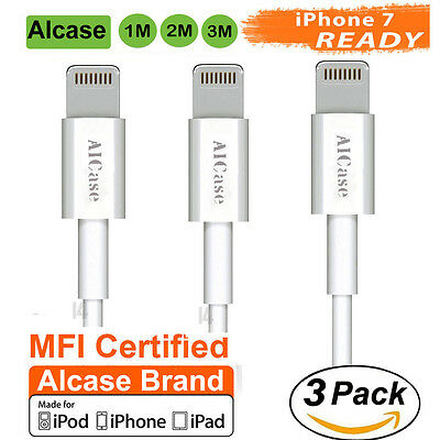 3X Genuine Original Apple iPhone 6s 7 Certified MFI Lightning USB Cable Charger