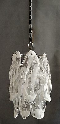 SPECTACULAR UNUSUAL RARE 60s CHANDELIER=CRYSTAL ART GLASS-MAZZEGA /MURANO