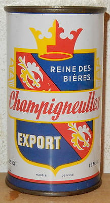 Very Rare 1954 CHAMPIGNEULLES Export Flat Top Beer can from FANCE (35cl)