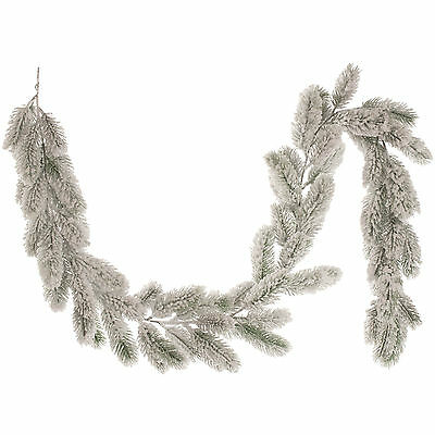 1.6m Luxury Christmas Party Snow Covered Pine Branch Garland Decoration