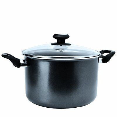 Ecolution Elements 8qt Stock Pot with Glass Lid Grey Stockpot