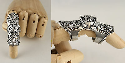 Articulated Ring Armour Gothic Flowers 246/8
