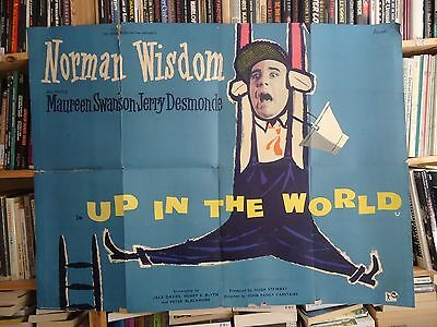 NORMAN WISDOM/UP IN THE WORLD /UK quad poster