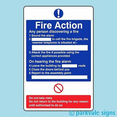General Fire Action Sign (412)