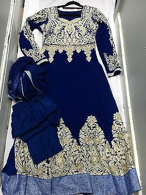 Anarkali Indian Long Dress Size 10-12 Used Wedding Occasion Outfit