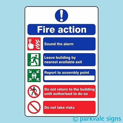 General Fire Action Sign (416)